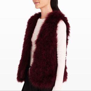 Club Monaco feather fur vest S